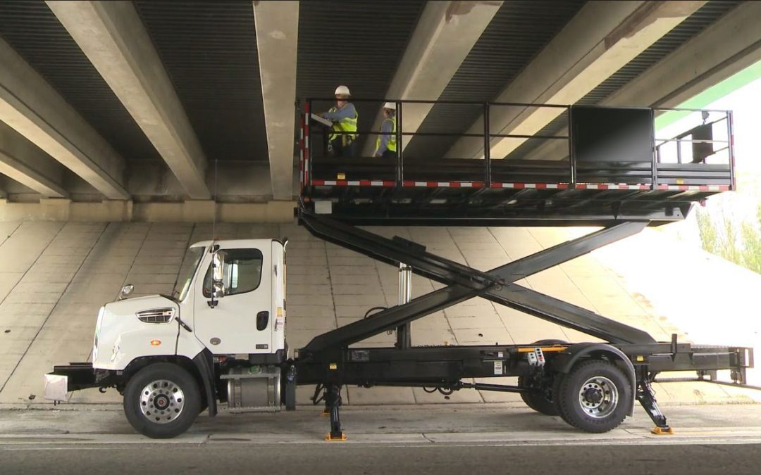 SPA Scissor Lift Trucks are highly effective for servicing, maintenance and inspection of underside bridges