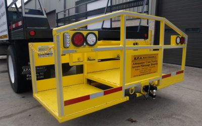 TMA Cone Trucks equipped with custom-made man basket increases work production and TMA worker safety