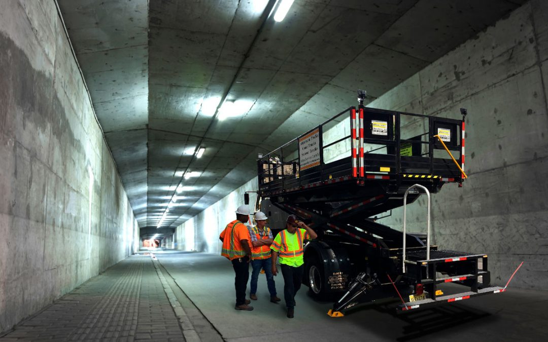 Tunnel Maintenance Scissor Lift Truck by SPA