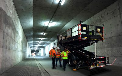 Tunnel Maintenance Scissor Lift Trucks by SPA