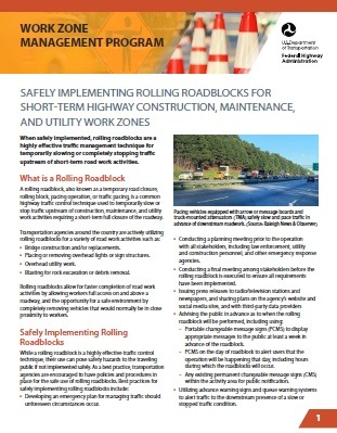 Free download: Work Zone Management Program, by U.S. Department of Transportation – Federal Highway Administration