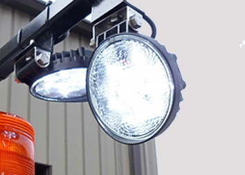 Each of our trucks is equipped with multiple LED Spot Lights
