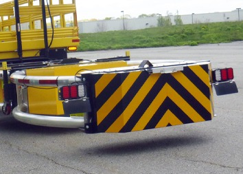 Scorpion TMA Attenuator from TrafFix Devices is the world's first MASH Tested, Passed, and Eligible Truck Mounted Attenuator.