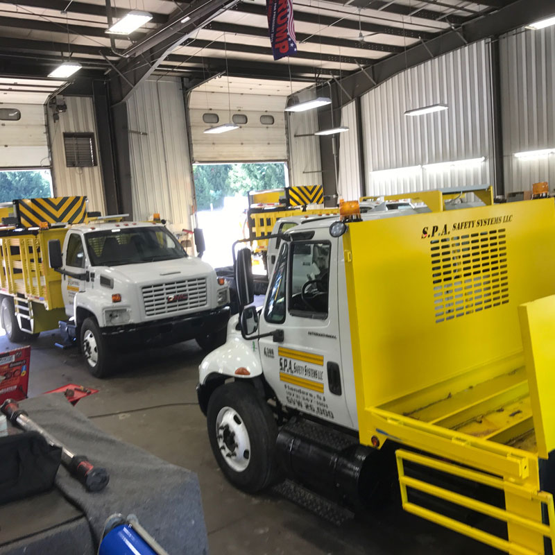 TMA truck, Cone truck, and Scissor Lift Truck service repairs parts fabrication