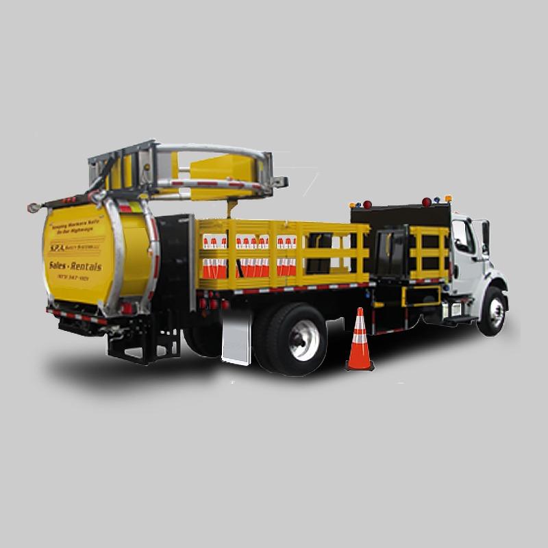 TMA Trucks are also known as TMA Attenuator Trucks, Crash Trucks, and Attenuator Mounted Trucks.