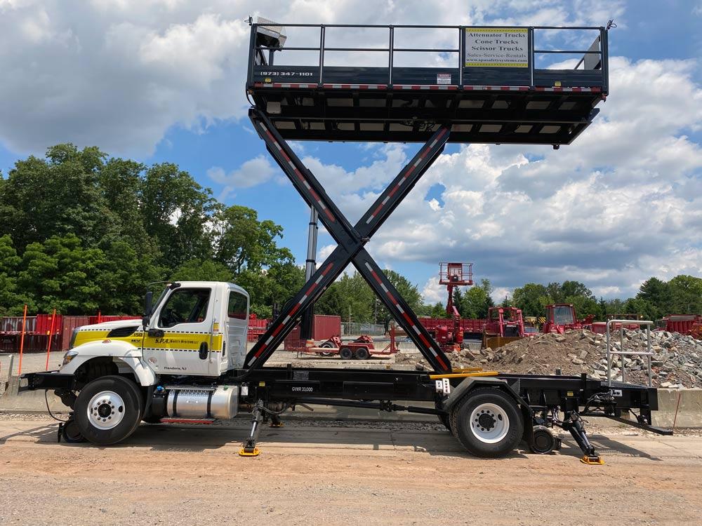 SPA Rail Gear Scissor-Lift Trucks for sale, rent and custom fabricated - Flanders NJ - Serving NJ, PA, NY, DE, & CT.